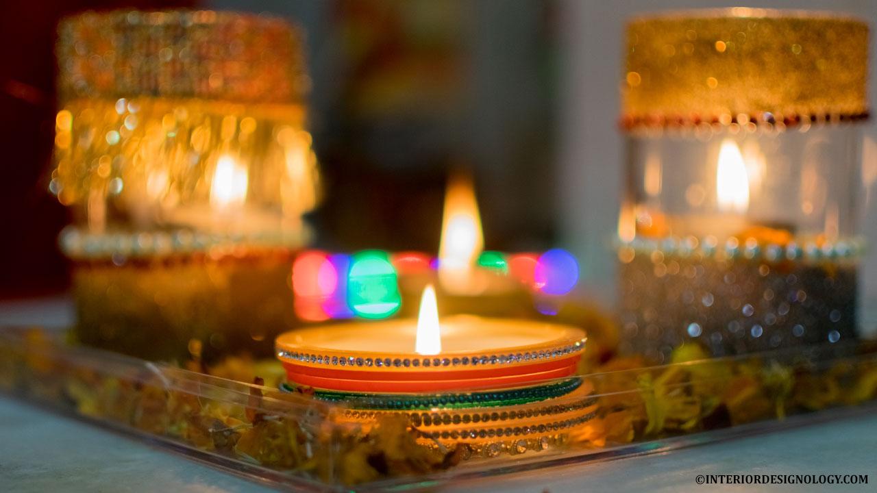 2017 Diwali Home Decor DIY Pooja Ghar Decoration