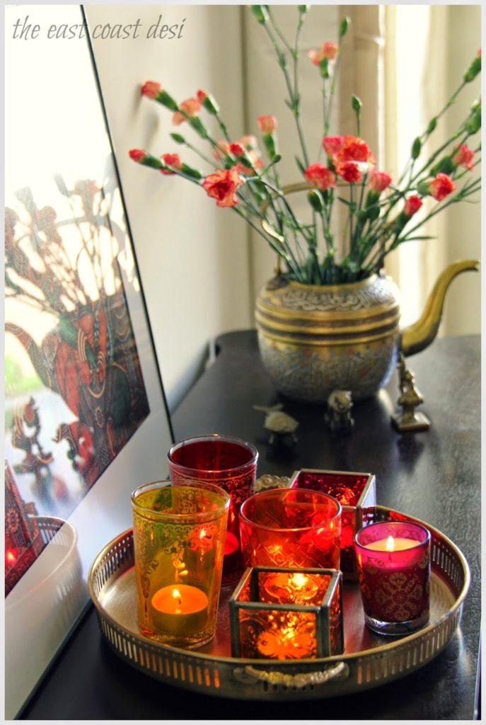 Diwali Candles Decoration Ideas