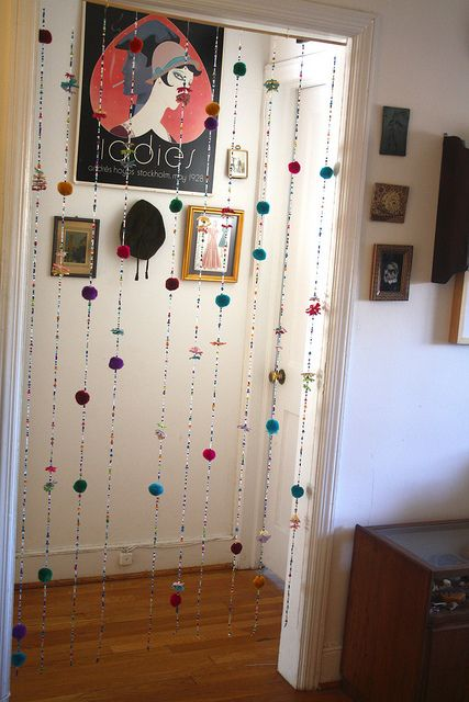 Door Decoration with Bead Curtains
