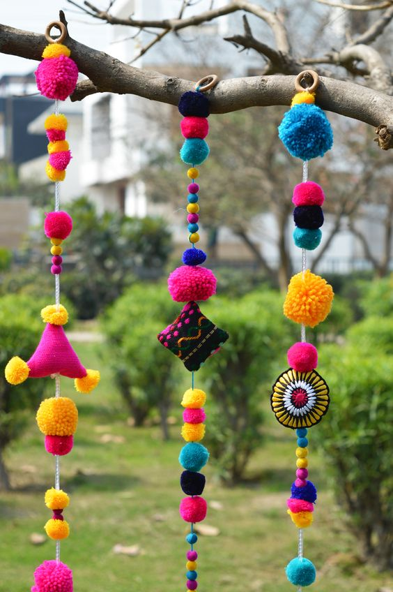 Colourful Wool Door Hanging