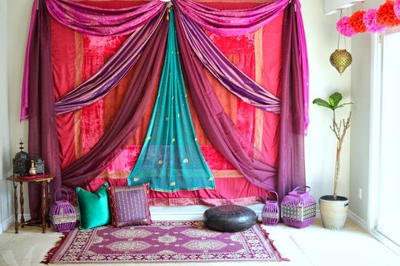 Arabian Nights Decoration Idea, Diwali Party Theme Idea