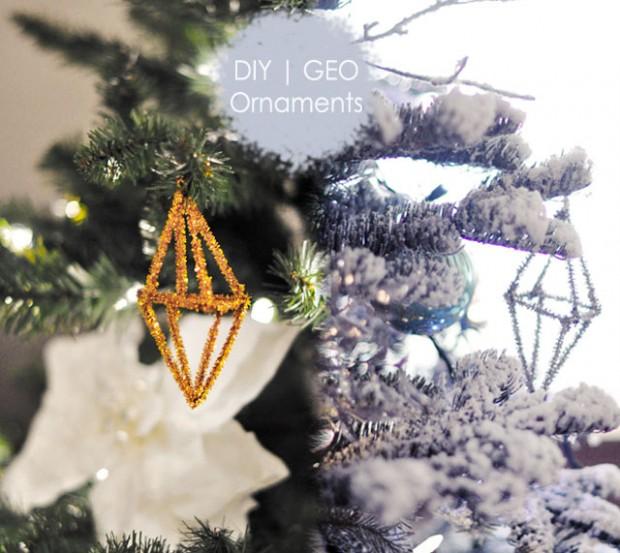 DIY Geo Christmas Ornaments