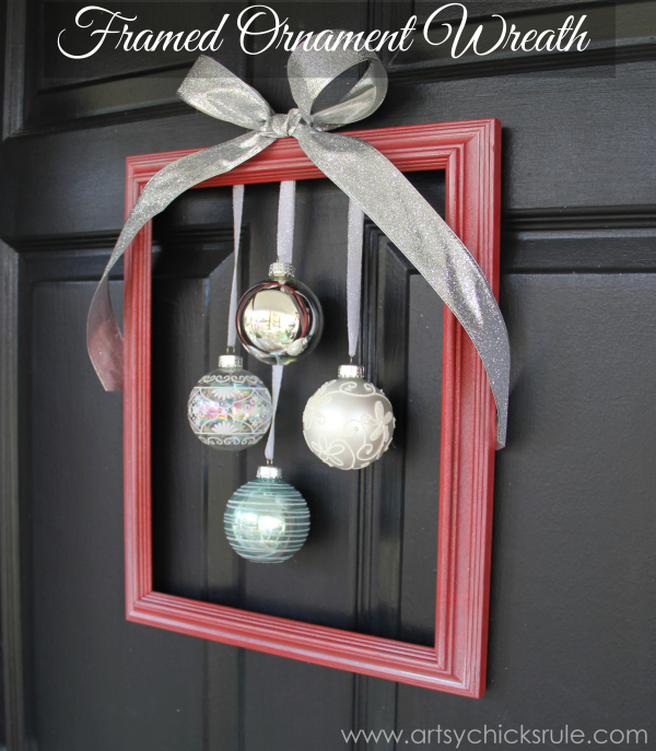 DIY Holiday Framed Ornament Wreath