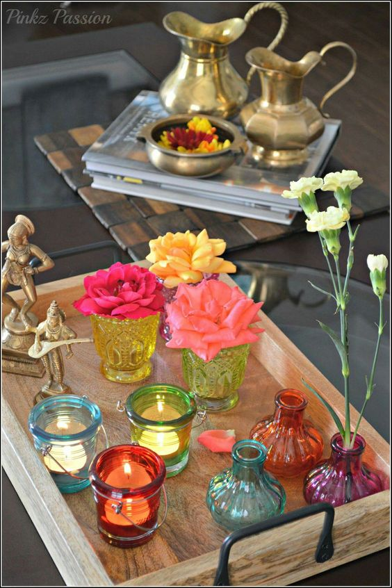 Diwali Flower and Candles Ideas