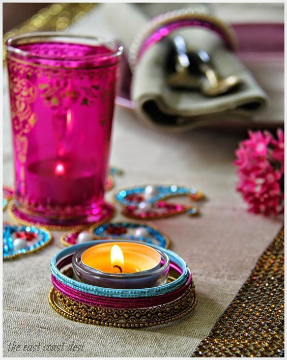 6 modern age diwali decoration ideas and inspirations for Home decoration with bangles