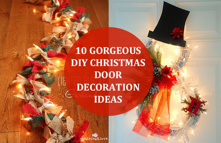 Inexpensive DIY Christmas Door Decoration Ideas