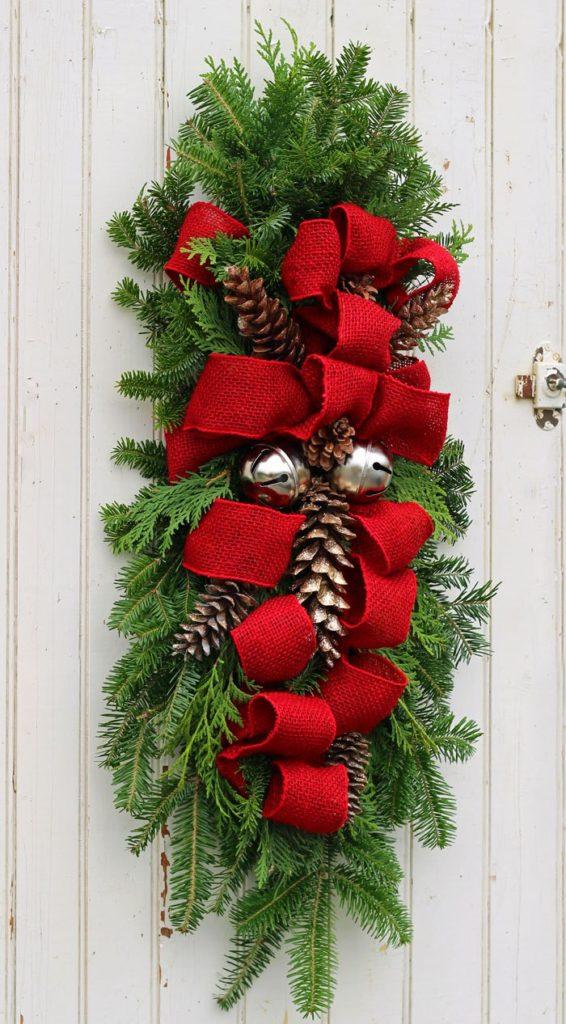 DIY Christmas Door Swag