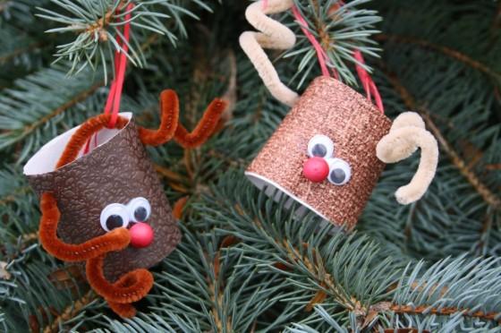 DIY Toilet Roll Reindeer Ornament