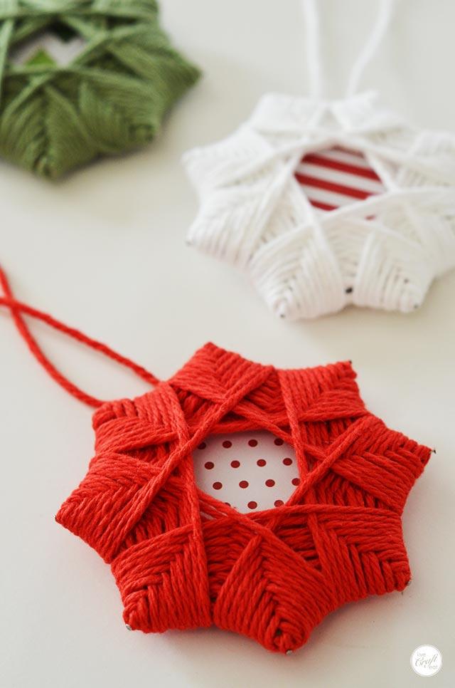 Homemade Christmas Tree Star Ornaments